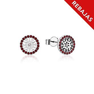 Pendientes de botón de piedra natal, enero, Frozen2, Couture Kingdom