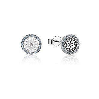 Pendientes de botón de piedra natal, marzo, Frozen2, Couture Kingdom