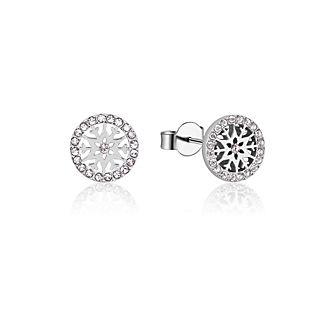 Pendientes de botón de piedra natal, abril, Frozen2, Couture Kingdom