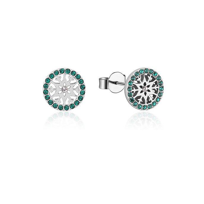 Pendientes de botón de piedra natal, mayo, Frozen2, Couture Kingdom