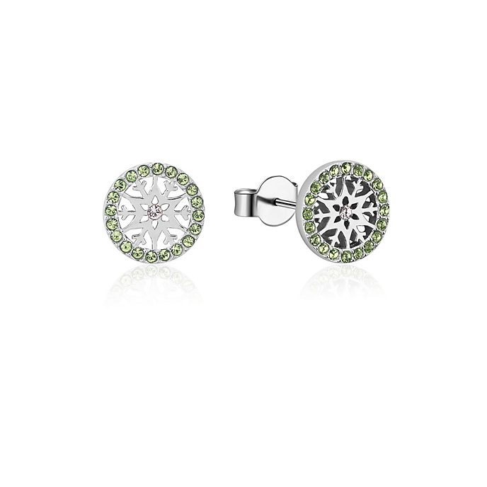 Pendientes de botón de piedra natal, agosto, Frozen2, Couture Kingdom