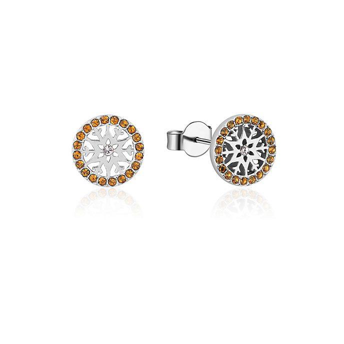 Pendientes de botón de piedra natal, noviembre, Frozen2, Couture Kingdom