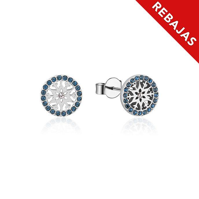 Pendientes de botón de piedra natal, diciembre, Frozen2, Couture Kingdom