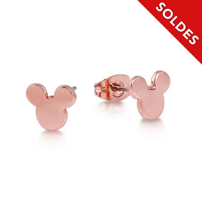 Couture Kingdom Clous d'oreilles tête de Mickey en plaqué or rose