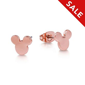 Couture Kingdom Mickey Mouse Head Rose Gold-Plated Stud Earrings