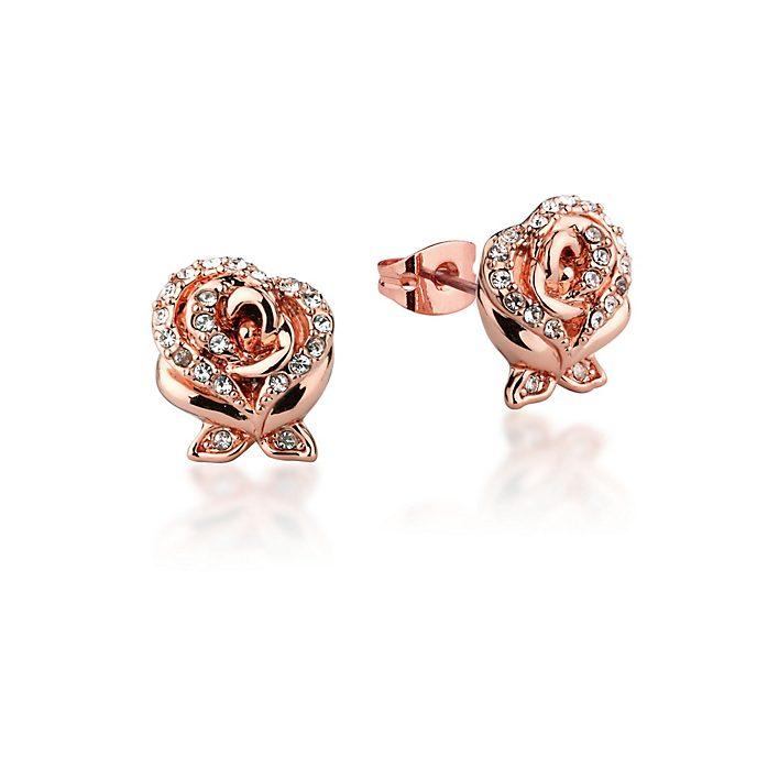 Couture Kingdom Boucles d'oreilles plaqué or rose La Belle et la Bête