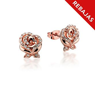 Pendientes chapados en oro rosa, La Bella y la Bestia, Couture Kingdom