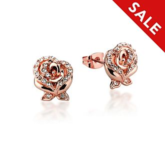 Couture Kingdom Beauty and the Beast Rose Gold-Plated Earrings