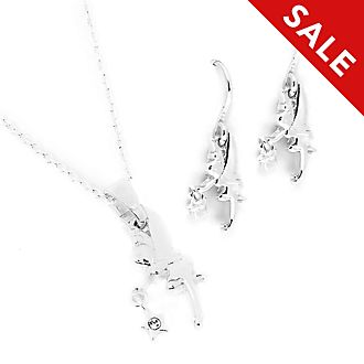 Disney Store Tinker Bell Necklace and Earrings Set