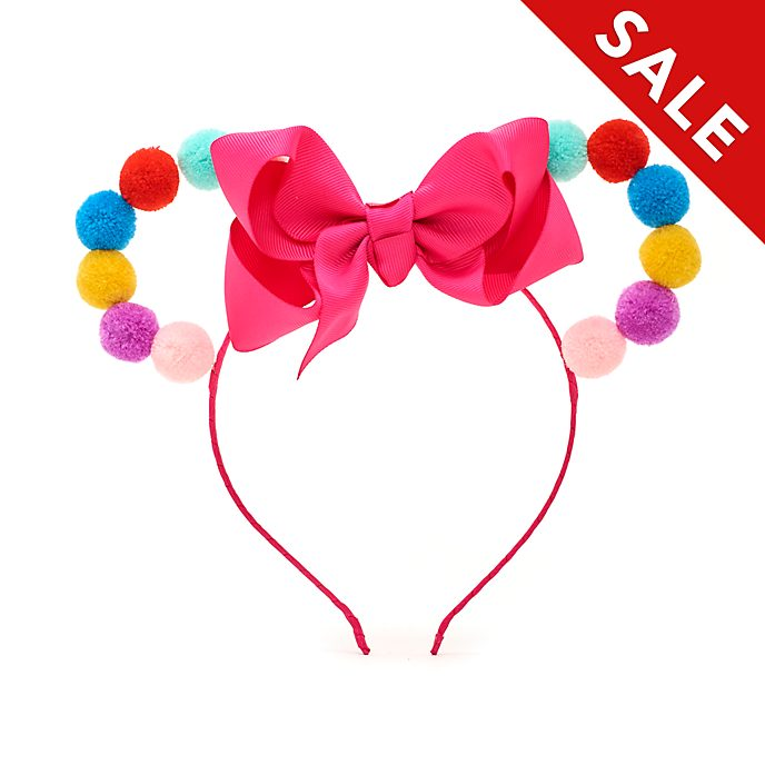 Disney Store Minnie Mouse Pom-Pom Ears Headband For Kids