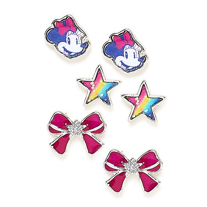 Disney Store Minnie Mouse Stud Earrings, Set of 3