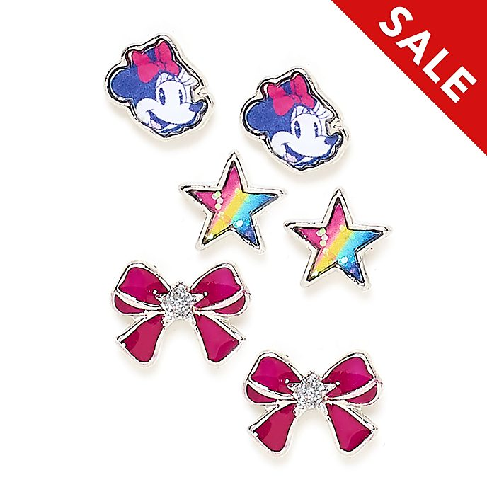 Disney Store Minnie Mouse Stud Earrings, Set of 3
