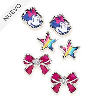 Pendientes botón Minnie Mouse, Disney Store (3pares)