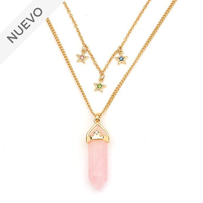 Collar cuarzo rosa Aurora para adultos, La Bella Durmiente, Disney Store