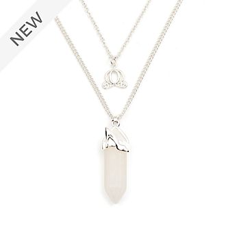 Disney Store Cinderella Clear Quartz Necklace For Adults