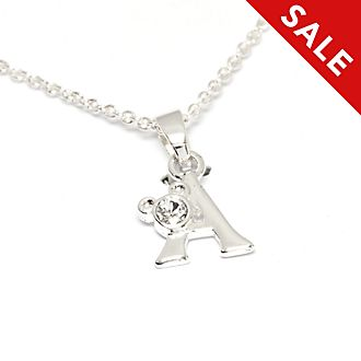 Disney Store Mickey Mouse 'A' Initial Necklace