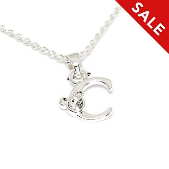 Disney Store Mickey Mouse 'C' Initial Necklace