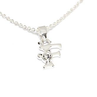 Disney Store Mickey Mouse 'F' Initial Necklace