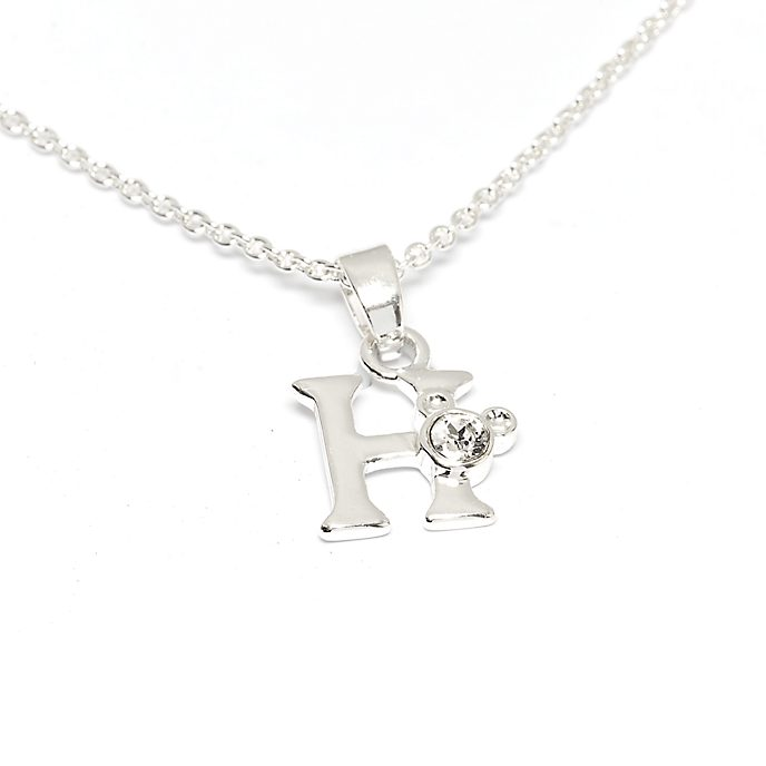 Disney Store Mickey Mouse 'H' Initial Necklace