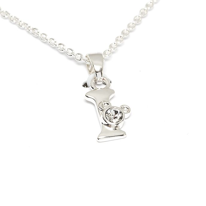 Disney Store Mickey Mouse 'I' Silver-Plated Initial Necklace