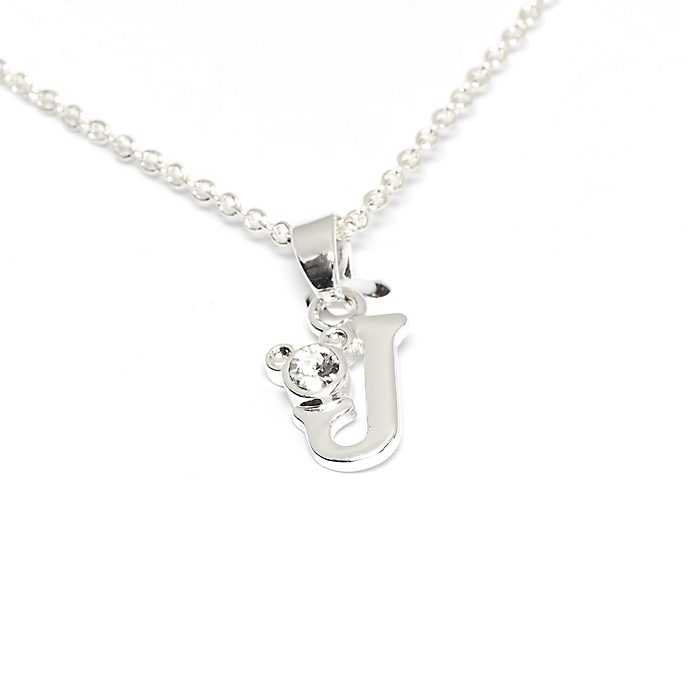 Disney Store Mickey Mouse 'J' Initial Necklace