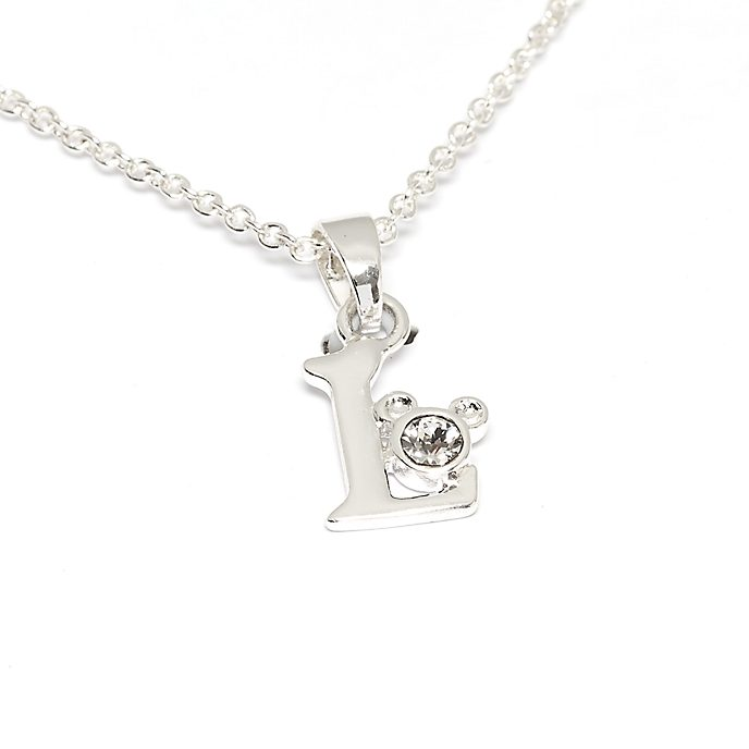 Disney Store Mickey Mouse 'L' Initial Necklace