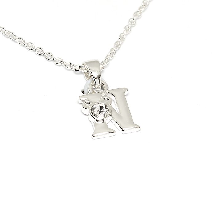 Disney Store Mickey Mouse 'N' Silver-Plated Initial Necklace