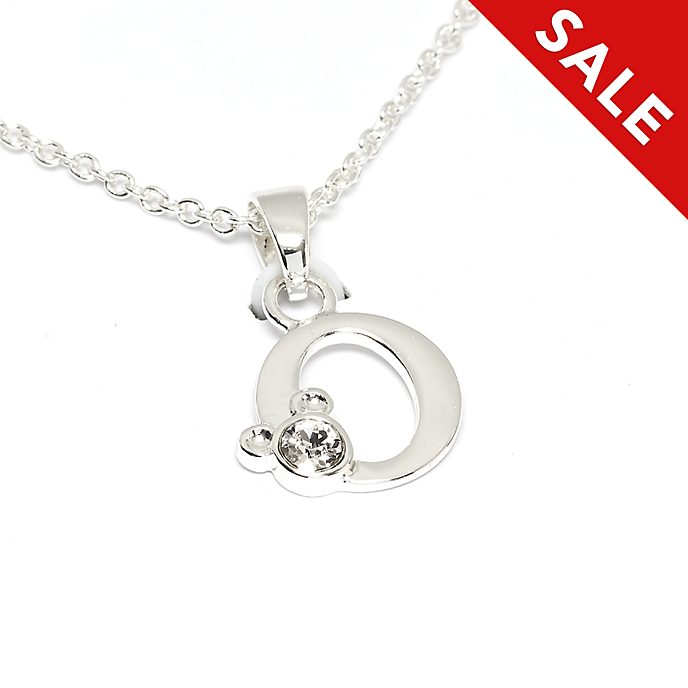 Disney Store Mickey Mouse 'O' Initial Necklace