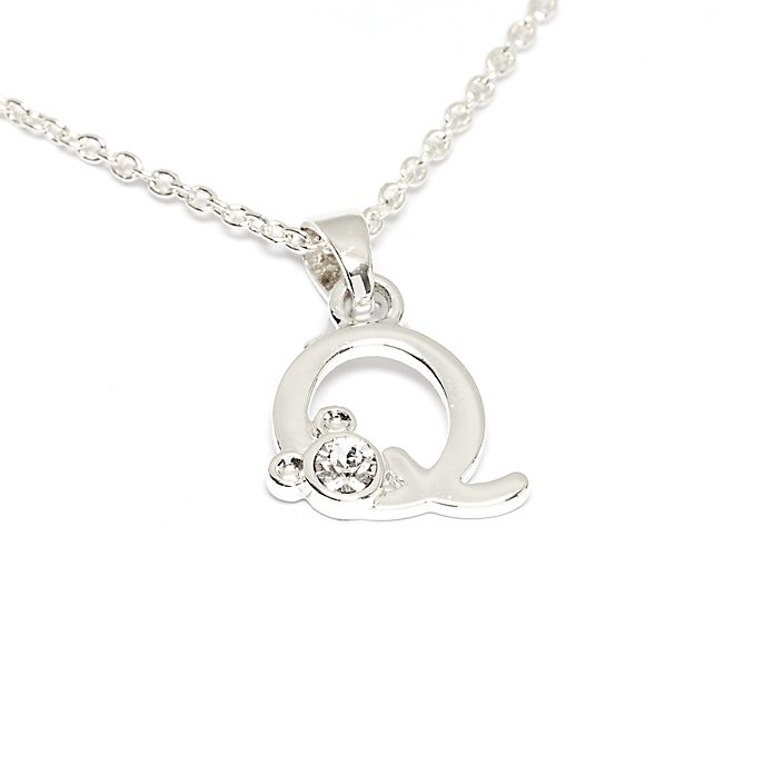 Disney Store Mickey Mouse 'Q' Initial Necklace