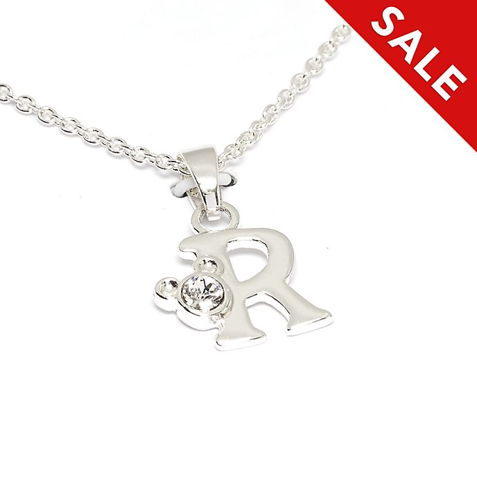 Disney Store Mickey Mouse 'R' Initial Necklace