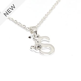Disney Store Mickey Mouse 'S' Silver-Plated Initial Necklace