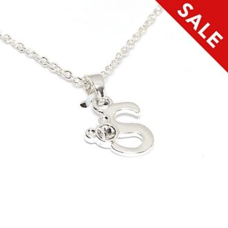 Disney Store Mickey Mouse 'S' Initial Necklace