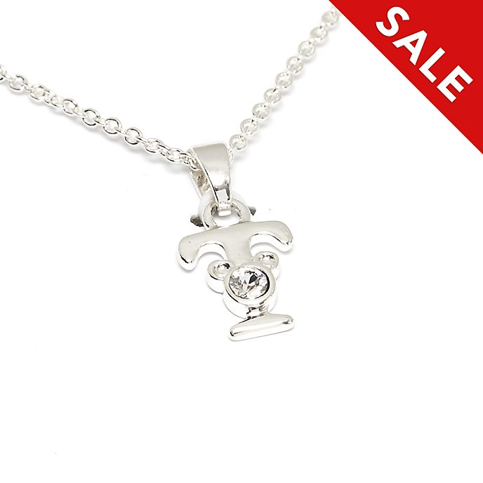 Disney Store Mickey Mouse 'T' Initial Necklace