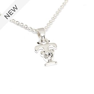Disney Store Mickey Mouse 'T' Silver-Plated Initial Necklace