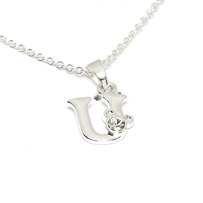 Disney Store Mickey Mouse 'U' Initial Necklace
