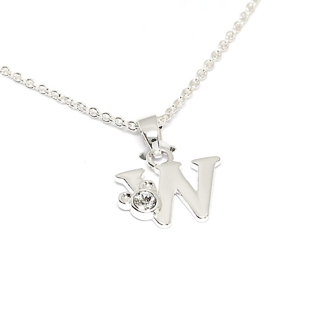 Disney Store Mickey Mouse 'W' Initial Necklace