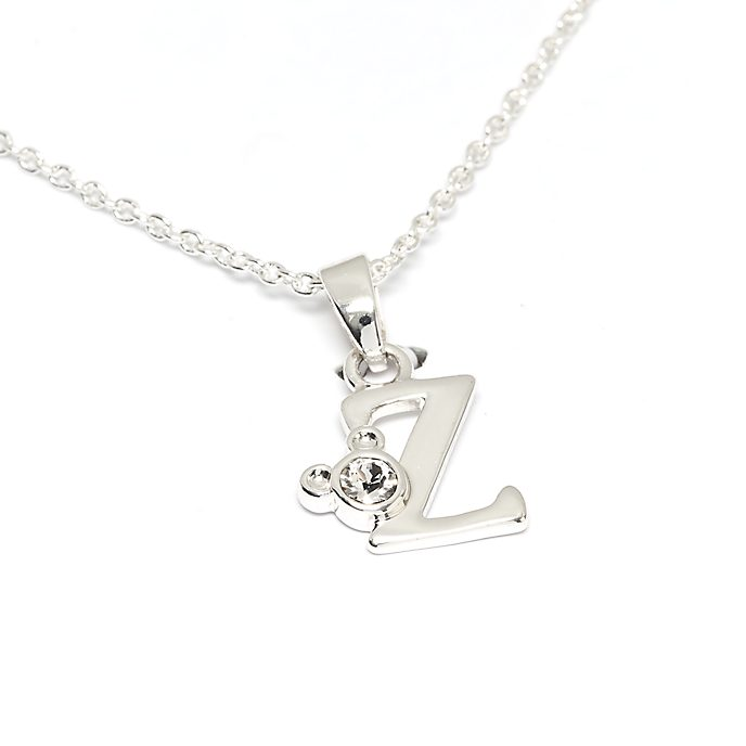 Disney Store Mickey Mouse 'Z' Initial Necklace