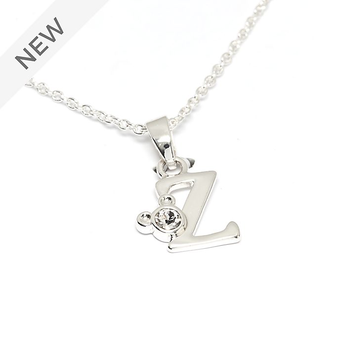 Disney Store Mickey Mouse 'Z' Silver-Plated Initial Necklace