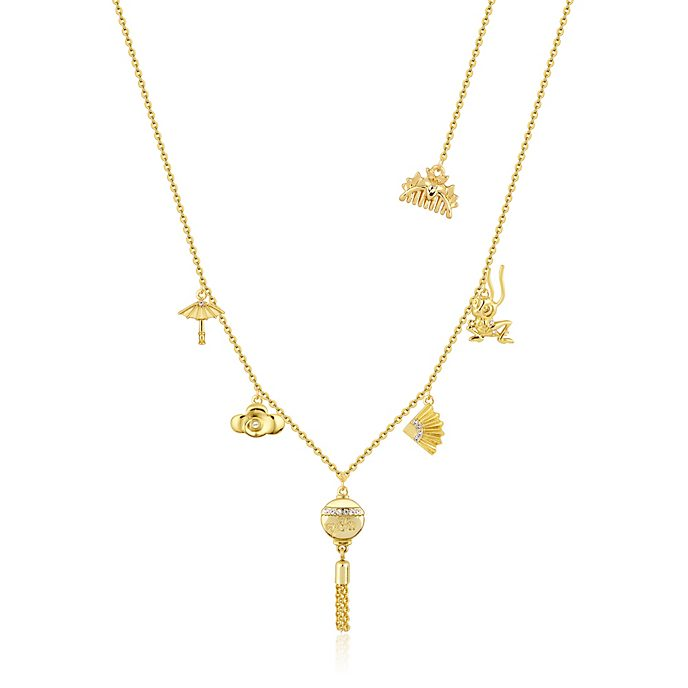 Couture Kingdom Mulan Gold-Plated Charm Necklace