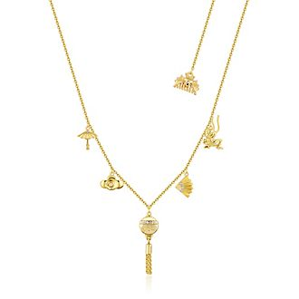 Collar con abalorio chapado en oro Mulán, Couture Kingdom