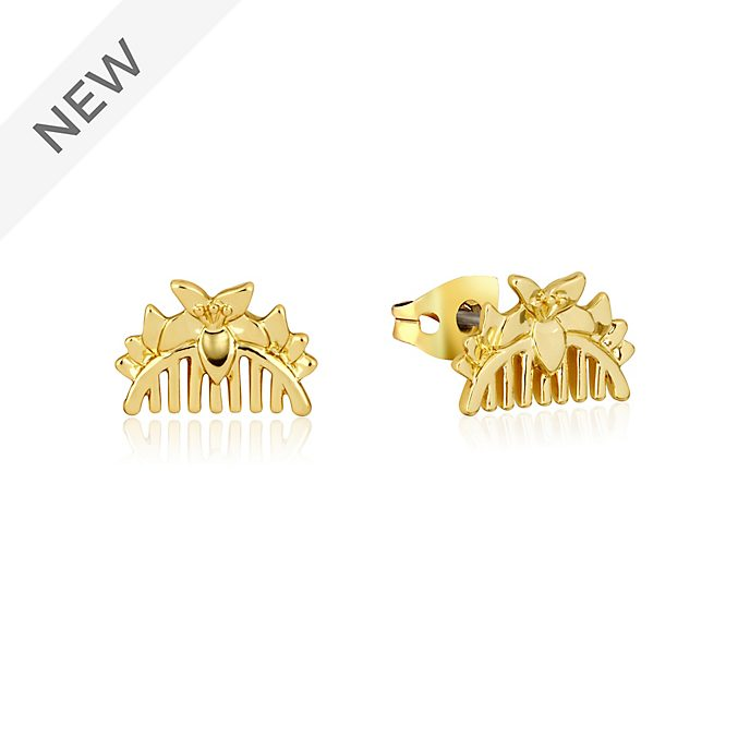 Couture Kingdom Mulan Gold-Plated Comb Stud Earrings