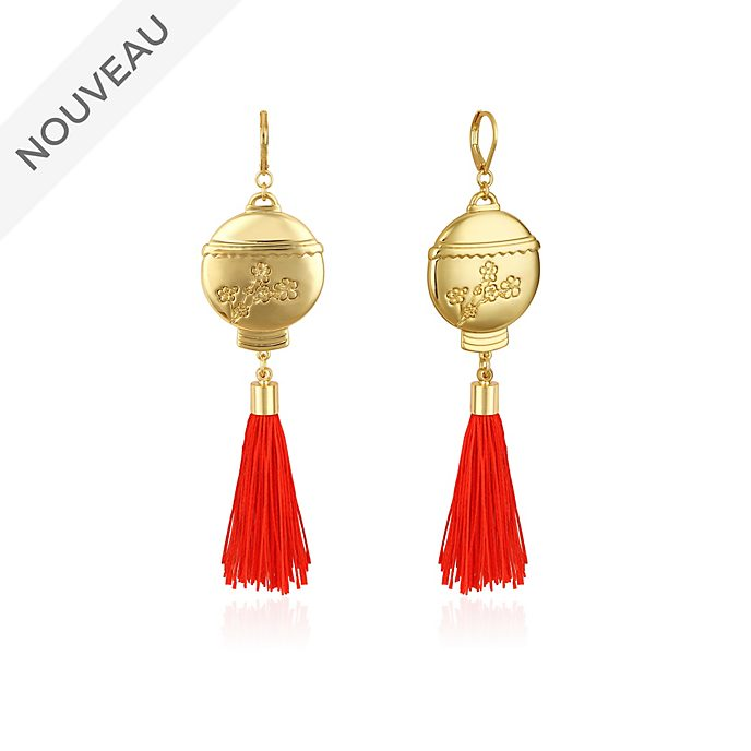 Couture Kingdom Pendants d'oreilles Lanterne Mulan plaqués or