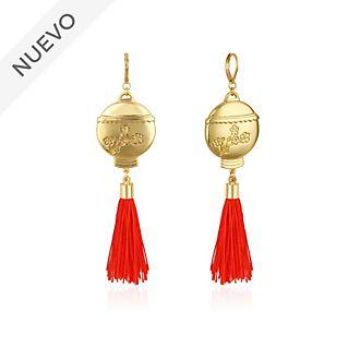 Pendientes farolillo con colgante chapados en oro, Mulán, Couture Kingdom