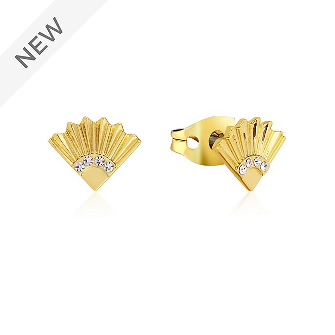 Couture Kingdom Mulan Gold-Plated Fan Stud Earrings