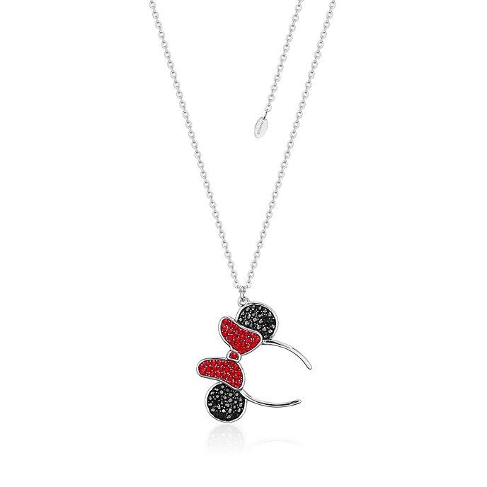 Couture Kingdom - Haarreif mit Minnie Maus Ohren - rhodinierte Halskette