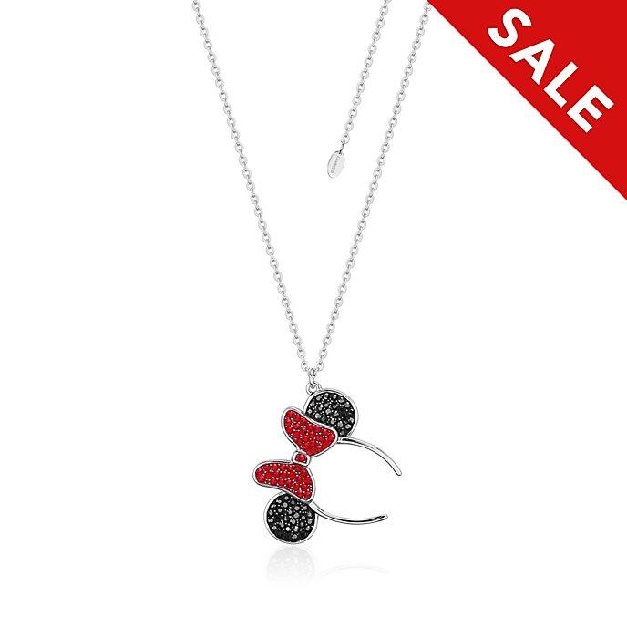 Couture Kingdom Minnie Ears Headband Rhodium-Plated Necklace