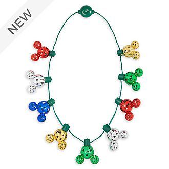 Disney Store Mickey Mouse Holiday Cheer Light-Up Necklace