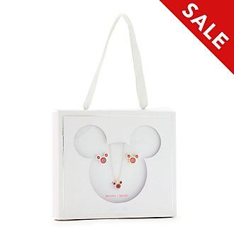 Disney Store - Micky Maus - Geburtssteinset mit Halskette und Ohrringen, Januar