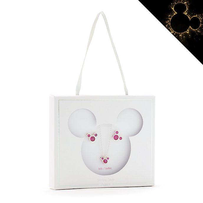 Set collana e orecchini con pietra del mese di luglio Topolino Disney Store