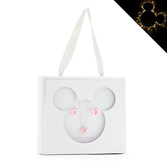 Disney Store - Micky Maus - Geburtssteinset mit Halskette und Ohrringen, Oktober